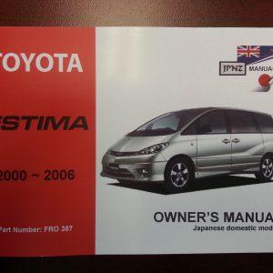 Owners Manual - Toyota Estima 2000-2006