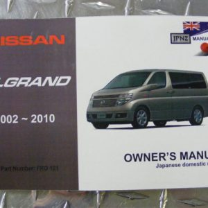 Owners Manual - Nissan Elgrand E51