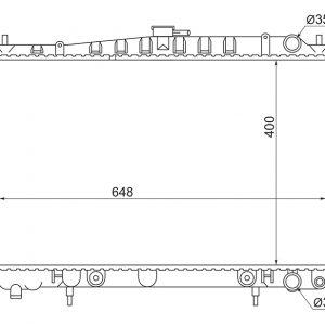 RADIATOR- NISSAN SKYLINE R33