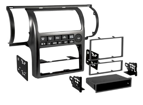 Stereo Fascia Aftermarket - Nissan Skyline V35 / Stagea M35 Black