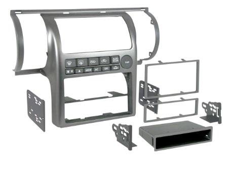 Stereo Fascia Aftermarket - Nissan Skyline V35 / Stagea M35 Silver